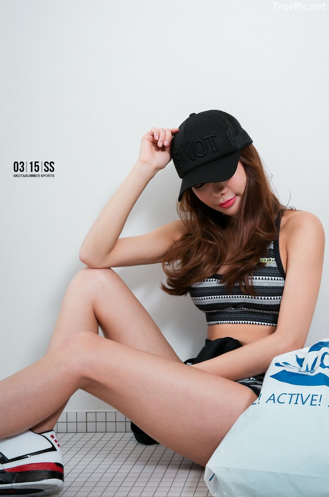 An Seo Rin - Short Shorts Fitness set - Korean model and fashion - Picture 3