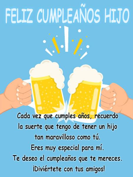 Cervezas para felicitar cumpleaños