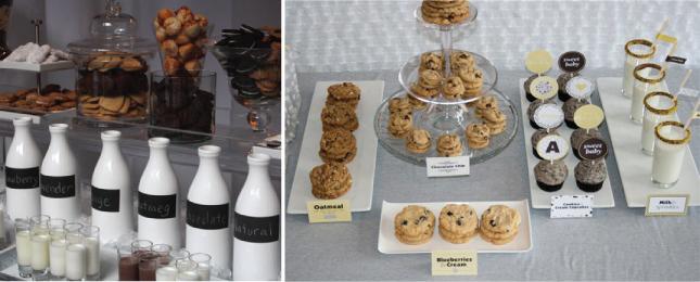 Weddings Trends} Milk and Cookies - Belle The Magazine