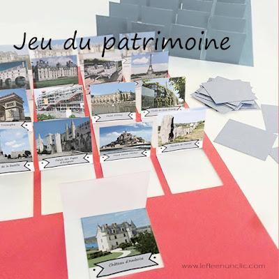 jeu du patrimoine, fle, le FLE en un 'clic', patrimoine français, jeu en français