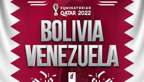 Bolivia vs. Venezuela EN VIVO: canales de TV y horarios por Eliminatorias Qatar 2022