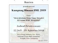Himpunan Mahasiswa Lampung Banten Proudly Present Kampung Binaan HML 2019