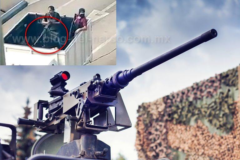 Esta fue la poderosa ametralladora que usaron sicarios del Cártel de Sinaloa hace ocho meses para humillar a las autoridades Mexicanas