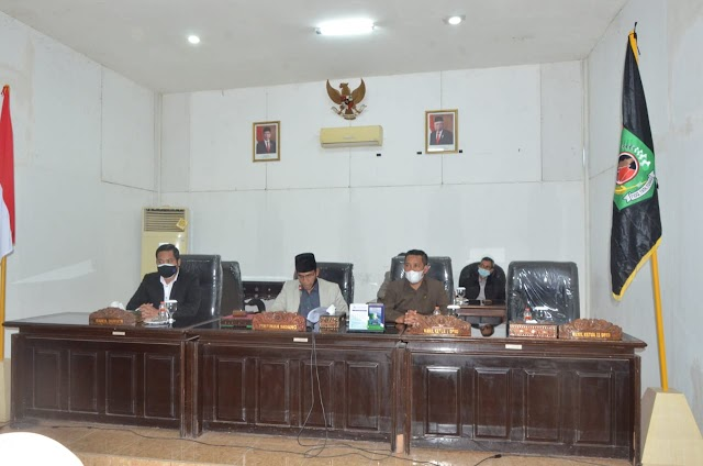 Wabup Danny Hadiri Paripurna DPRD, Ini Jawabannya Terhadap Pandangan Umum Fraksi.