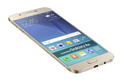 bagian samping HP Samsung Galaxy A8