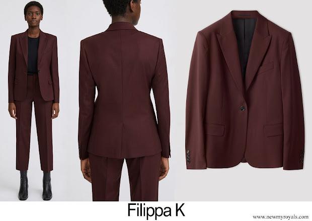 Crown Princess Victoria wore Filippa K Sasha Cool Wool Blazer