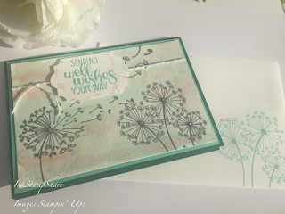 Dandelion Wishes, Water colour, Silver Embossing, Stampin Up, Inspire Create Stamping Colour Challenge