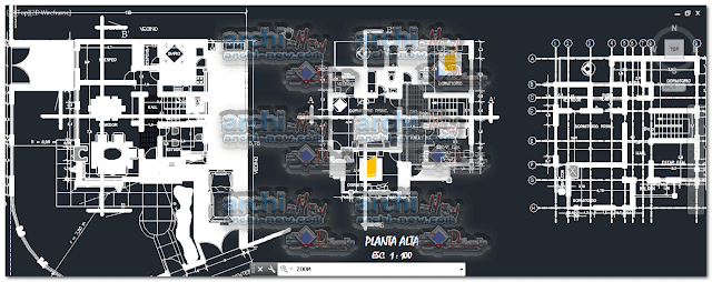 Horizontal projections of the project House 2 floors dwg