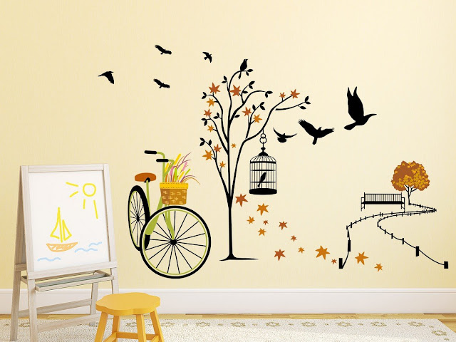 ride wall sticker