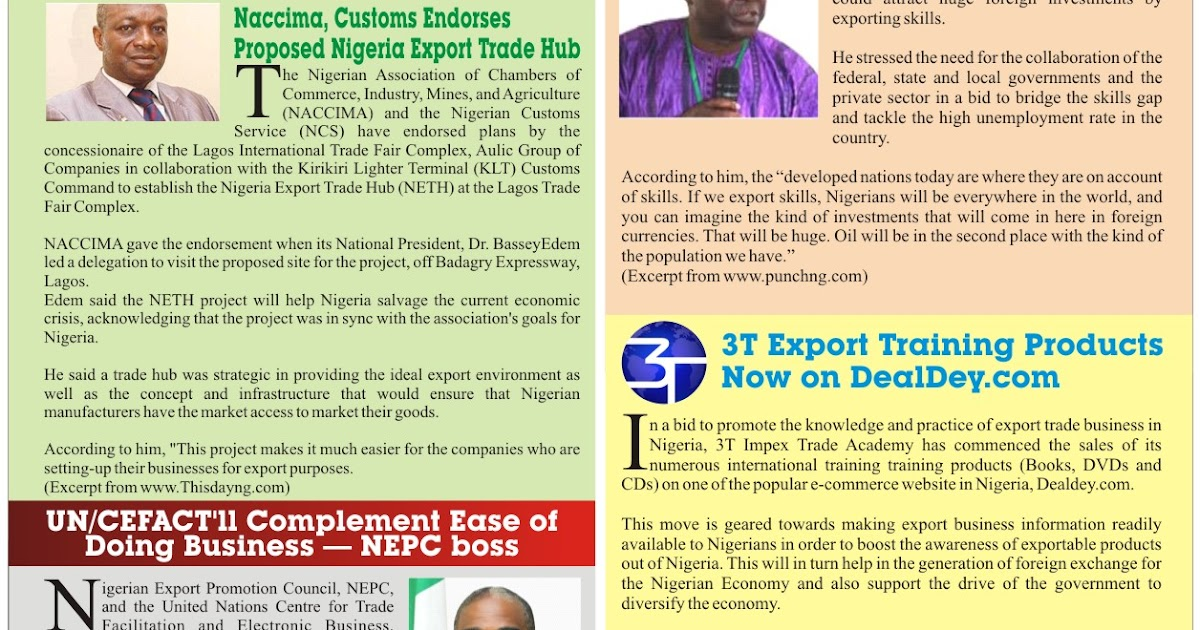 Use Of Drafts With Export Letter Of Credit Nigeria Trade Info Portal Export Digest Newsletter