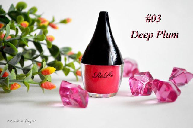 RIRE Lip Manicure High Fix deep plum