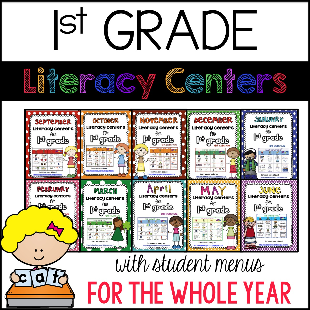 September Literacy Centers For First Grade