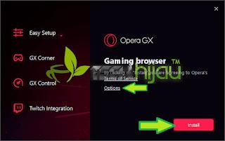Instal Opera GX - Tech Hijau™