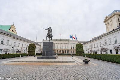 Pałac Prezydencki i pomnik księcia Józefa Poniatowskiego