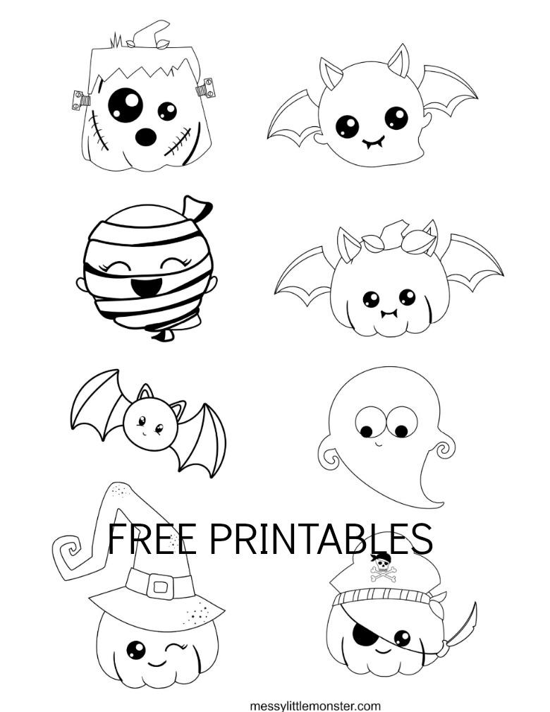 Halloween character printables