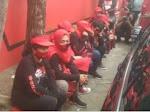Pendukung Whisnu Lesu usai PDIP Usung Eri-Armudji di Pilkada Surabaya