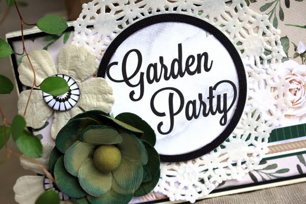 Garden Party Flower Tray Alter by Ulrika Wandler using BoBunny Garden Party Collection