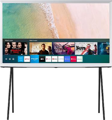Samsung The Serif Series 138 cm (55 inches) 4K Ultra HD Smart QLED TV QA55LS01TAKXXL (Cloud White) (2020 Model)