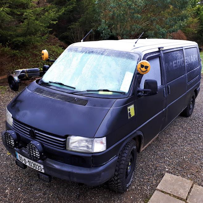 Mercenary Surface Module - VW T4 Matte Black Tactical Van