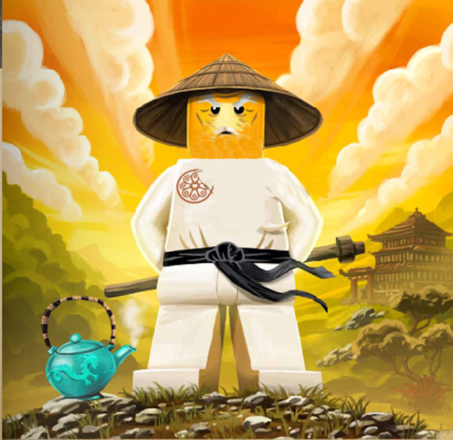 Ninjago Party: Pin the Beard to Sensei Wu.