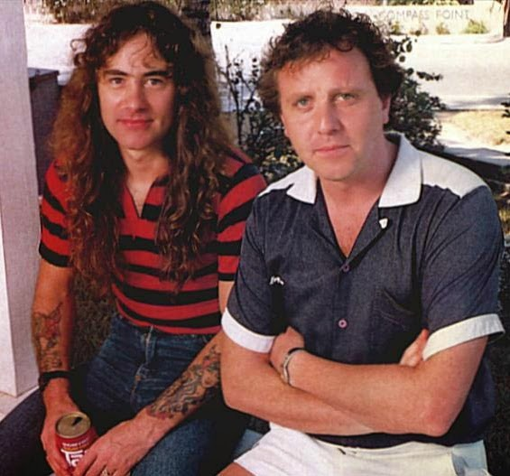 Martin Birch c.1982, with Steve Harris of Iron Maiden