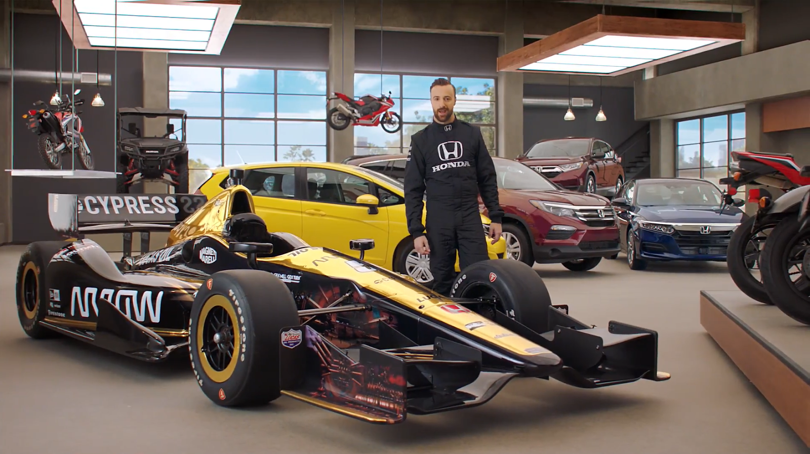 Honda Dream Garage Starring Indy Car Racer James HInchliffe