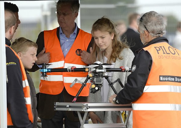 Belgian royal family visited drone factory in Zeebrugge