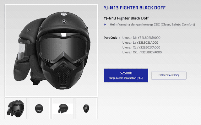 Helm Pilot Yamaha YJ-N13 Fighter