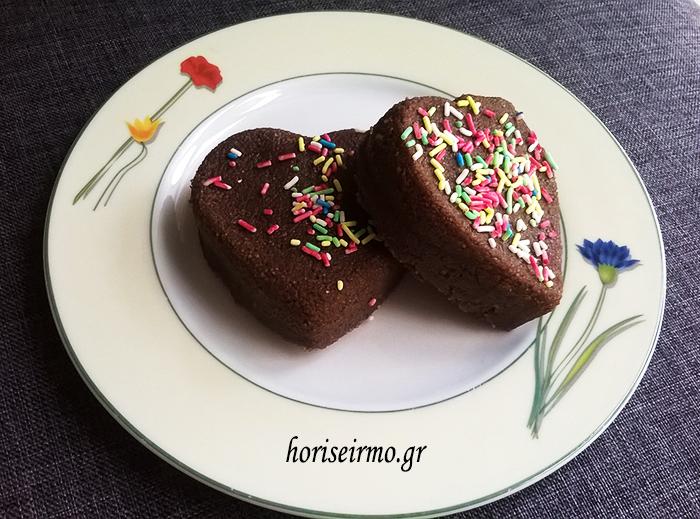 γλυκάκι χαλβάς με σοκολάτα για του αγίου Βαλεντίνου