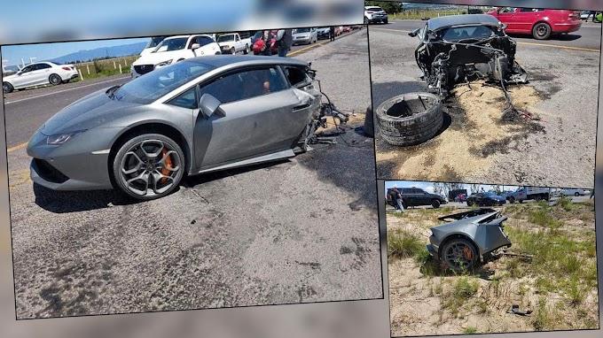 Lamborghini kazası araba ikiye bölündü!