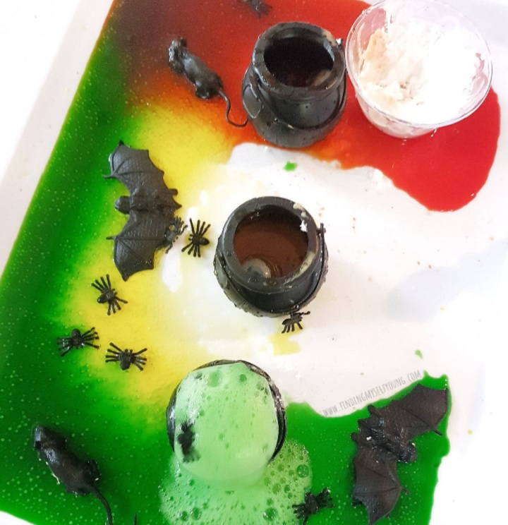 colourful witches potions for halloween