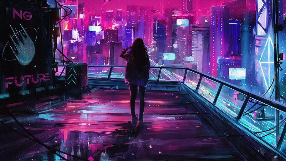 Cyberpunk, City, Sci-Fi, Digital Art, 4K, #4.1974
