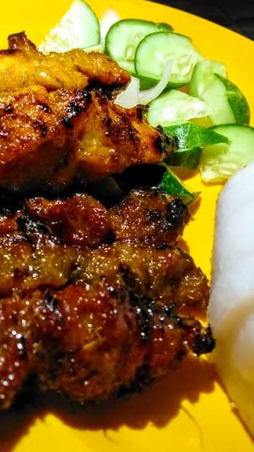 Resepi & cara buat satay Baung ayam daging Kota Bharu & masak kuah kacang sedap