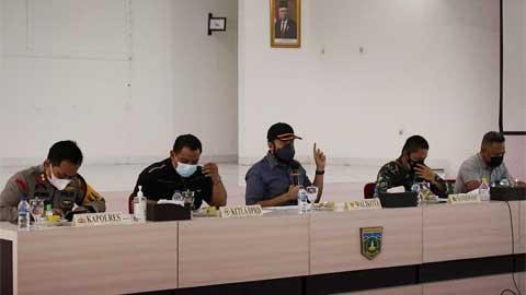 rapat Evaluasi pelaksanaan PPKM Darurat