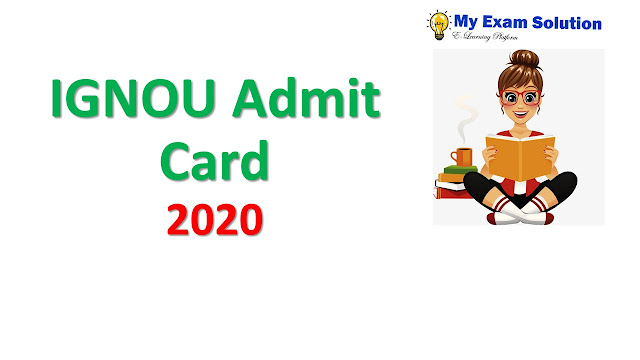 IGNOU Admit Card 2020
