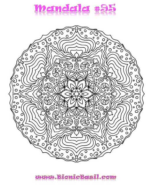 Mandalas on Monday @BionicBasil® Colouring With Cats #95  Downloadable Image