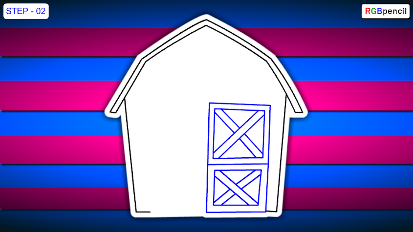 how to draw barn for kids 02 draw barn step