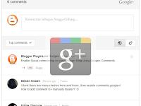Cara Mengaktifkan/Memasang Google Plus Comments Di Blogger - Kelebihan dan Kekurangan