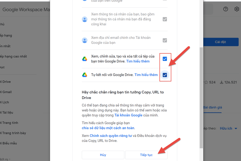 Cách copy file Google Drive người khác về Google Drive của mình