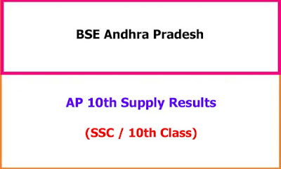 AP 10th Class Supplementary Exam Results