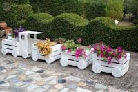 Cajones de madera reciclados para el jardin