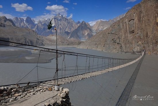 Hussaini, where lives Ramla Akhtar, aka Rmala Aaalam, is a peaceful wakhi village of Gojal.It is internationaly famous for its bridge and its magnificent view over Hunza River and Passu Cones