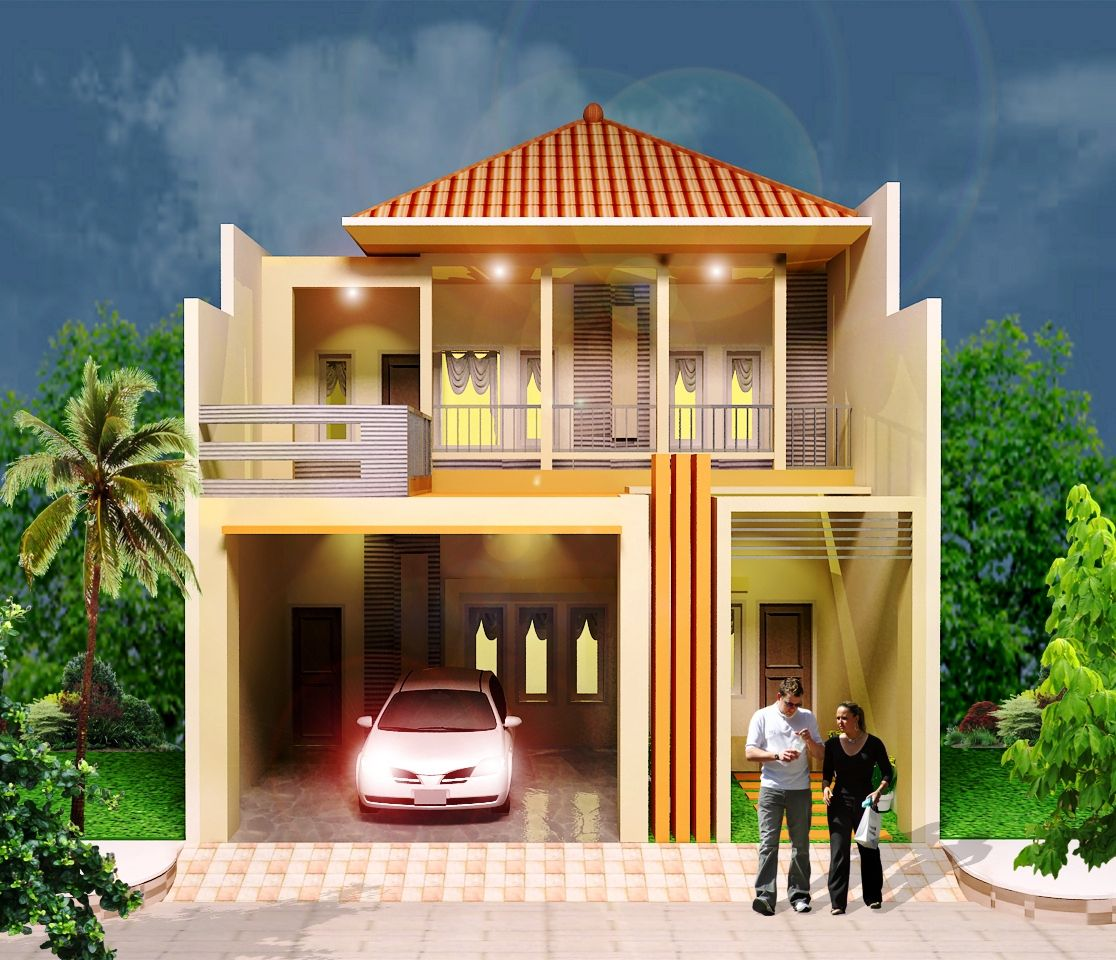 65 Model Desain Rumah Minimalis 2 Lantai Modern Mewah Indah