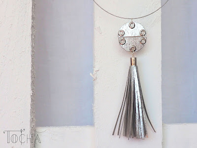 necklae, chocker, silver, washpapa, washable paper, paper, jewellery, vegan, leather, pleather, tassel, festival, made of paper,