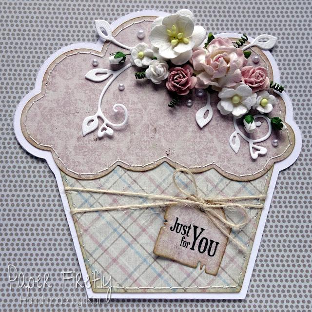 Floral cupcake card