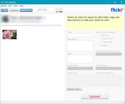 ViewNX-i から Flickr に写真をアップする