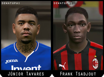 PES 2017 Faces Frank Tsadjout & Júnior Tavares by Dewatupai