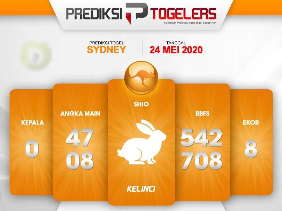Prediksi Sydney Minggu 24 Mei 2020 - Prediksi Togelers
