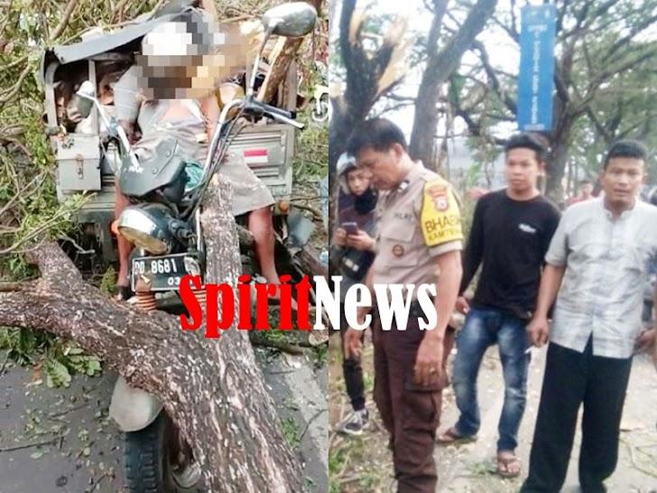 Kapolsek Bajeng Gowa, Membenarkan Aco Dg Ngawing, Tertimpa Pohon Tumbang di Panciro