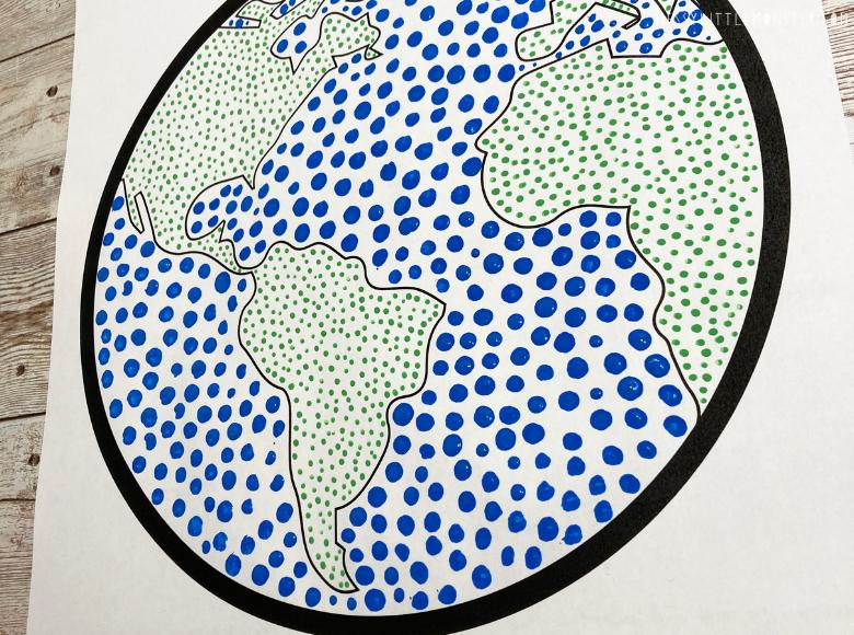 Earth day dot art